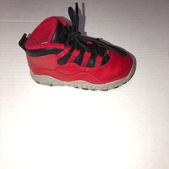 best website c553b 14cdc Kids toddler Nike air Jordan's red retro 10 size 8